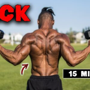 15 MINUTE DUMBBELL ONLY BACK WORKOUT | NO BENCH NEEDED!