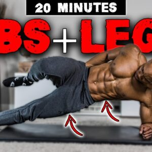 20 MINUTE ABS & LEGS WORKOUT (NO EQUIPMENT) | FOR BEGINNERS ALSO!