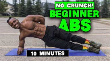 10 MINUTE ABS WORKOUT FOR BEGINNERS | NO CRUNCHES!