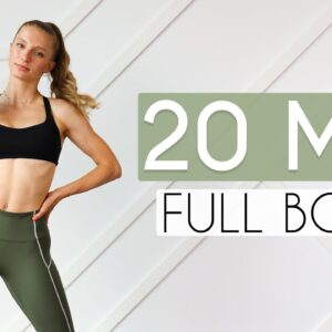 20 min FULL BODY BURN Workout At Home (ONE DUMBBELL)