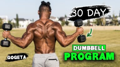 30 DAY DUMBBELL WORKOUT PROGRAM   BUILD MUSCLE & BURN FAT AT THE SAME TIME!   'GOGETA'