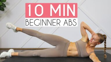 10 MIN BEGINNER AB WORKOUT (Sixpack Abs, No Equipment)
