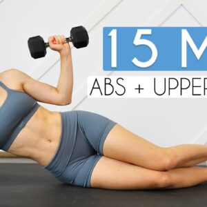 15 min TONED ARMS & ABS (Upper Body + Core Burn)