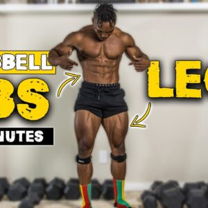 20 MINUTE DUMBBELL ABS & LEGS WORKOUT | BURN FAT & BUILD MUSCLE