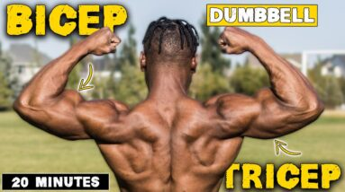 20 MINUTE DUMBBELL BICEP & TRICEP WORKOUT FOR TONED ARMS!