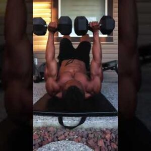 Target LOWER CHEST with DUMBBELLS but no BENCH!