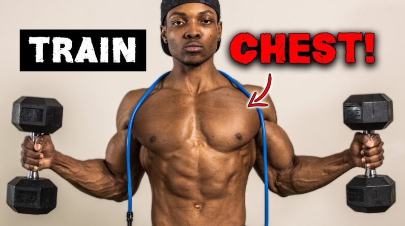 CHEST WORKOUT AT HOME FOR MASS! | DUMBBELLS & BANDS